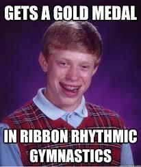 Gold Memes - gets a gold medal in ribbon rhythmic gymnastics meme gymnastics memes