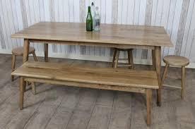 Scandi Dining Table Scandinavian Style Reclaimed Oak Dining Table
