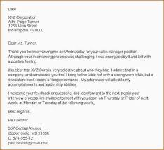 sample thank you letter after interview free job interview