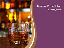 whisky glasses on bar stand powerpoint template u0026 backgrounds id