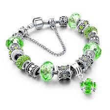 sterling silver charm bead bracelet images Murano glass beads crystal 925 silver charm bracelets fun jpg