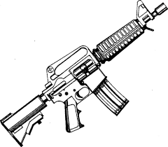 gun coloring pages coloringsuite com