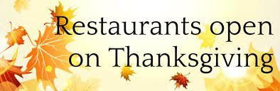 restaurants open on thanksgiving in high point nc