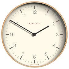 buy newgate mr clarke wooden wall clock dia 53cm pale wood