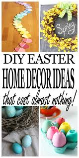 Inexpensive Diy Spring Home Décor Easter Frugal And Blogging