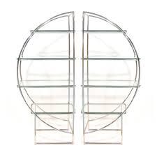 Silver Bookcase Half Moon Bookcases Silver 24e Design Co