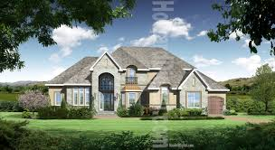 chateau style house plans style home renderings howard digital