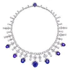 natural sapphire necklace images Estate harry winston sapphire diamond fringe necklace betteridge jpg