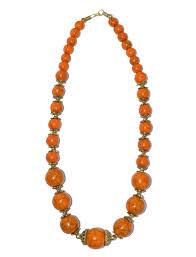 orange beaded necklace images Orange round beaded necklace with earrings jpg