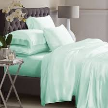 mint green silk bed linen 100 mulberry silk