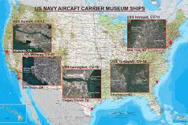 Corpus Christi Map The Us Navy U0027s Five Aircraft Carrier Museum Ships