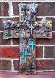 rustic crosses large rustic distressed wooden wall cross of crosses crafty