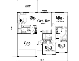 traditional floor plan traditional style house plan 3 beds 2 00 baths 1550 sq ft plan