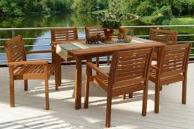 Wood Patio Furniture Ideas Furniture Red Wood Dining Set By Sunbrella Outdoor Furniture Plus