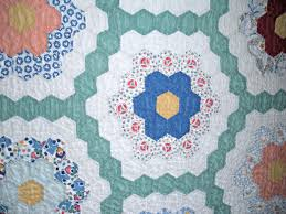 hexagons made by a brunnette