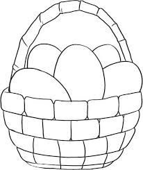easter basket with eggs coloring page simple picture of easter basket coloring page batch coloring