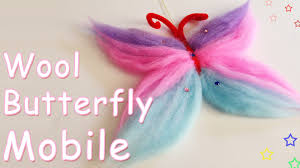 diy crafts wool butterfly mobile ana diy crafts youtube