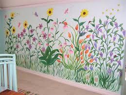Garden Mural Ideas Best Paint For Wall Mural Bosssecurity Me