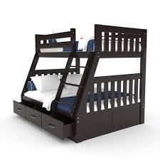 Bunk Beds Australia Buy Cornelia Solid Pine Bunk Bed W Storage Cappuccino