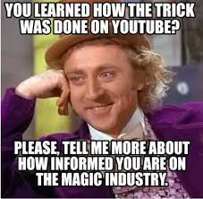 Magic Trick Meme - what are some misconceptions about performing magic tricks quora