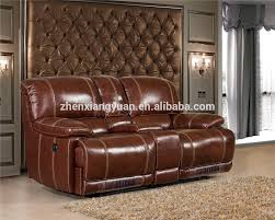 home theater loveseat living room sofa specific use and genuine leather material lazy