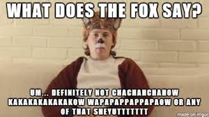 What Did The Fox Say Meme - what does the fox say meme on imgur