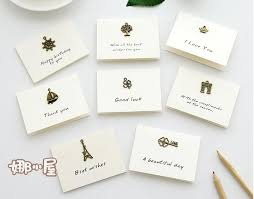 wedding wishes in korean 5pcs lot vintage greeting cards korean simple blessing message