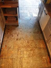 Slate Kitchen Floor by Cleaning And Sealing Heavily Soiled Slate Tiles In Gateside