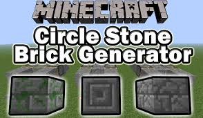 minecraft how to build a circle stone brick generator mossy