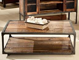 rustic wood and iron coffee table u2013 rustic wood coffee table with