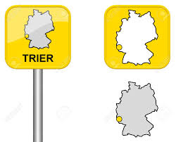 Trier Germany Map trier town sign button and germany map stock photo picture and