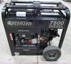 spartan 7500d industrial generator item d9259 sold janu