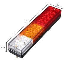 led trailer tail lights niceeshop waterproof ip65 2x 20 led car truck led trailer tail