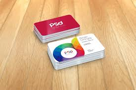 free rounded corner business card mockup psd graphics free