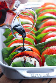 light and easy dinner ideas tomato mozzarella salad with balsamic reduction little broken