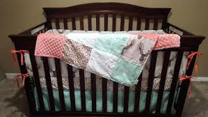 Navy And Coral Crib Bedding Navy And Coral Crib Bedding
