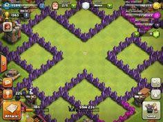 layout coc town hall level 7 clash of clans town hall 6 defense coc th6 best war base layout