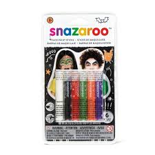 amazon com snazaroo halloween face paint sticks set of 6