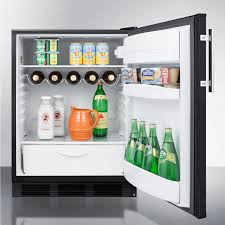 summit ff63b 24 inch compact refrigerator with 5 5 cu ft