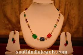 indian bead jewelry necklace images 14k gold beaded necklace south india jewels jpg