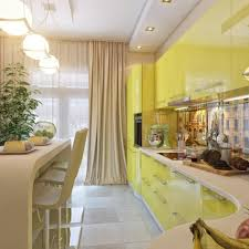 white yellow kitchen dining space yellow kitchen units cream