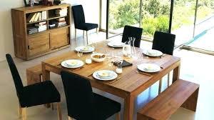 de cuisine table de cuisine en bois avec rallonge table cuisine rectangulaire