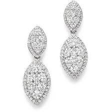 14 carat gold earrings bloomingdale s diamond marquise earrings in 14k white gold