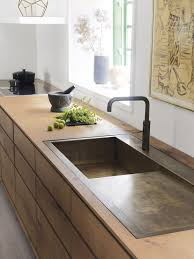 Good Wood Cooking Sinks Minimalist Kitchen Sinks And Kitchen - Brass kitchen sink