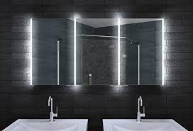 spiegelschränke für badezimmer alu badschrank badezimmer spiegelschrank bad led beleuchtung 160 x