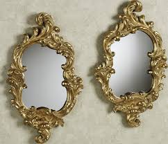Decorative Mirrors Home Decor Gold Frame Wall Mirror Modern White Drawer And Unique