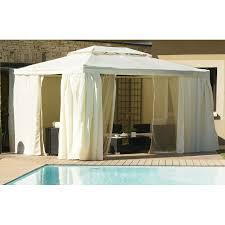 tonnelle de jardin avec moustiquaire tonnelle aluminium 4 x 3 m écru le rêve chez vous
