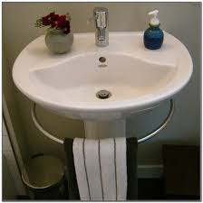 pedestal sink towel bar porcher pedestal sink with towel bar sink and faucets home