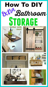 Bathroom Storage Shelf Space Saving Diy Bathroom Storage Ideas