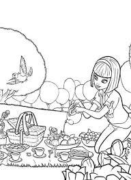 vanessa picnic barbie thumbelina colouring happy
